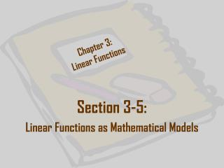 Chapter 3: Linear Functions