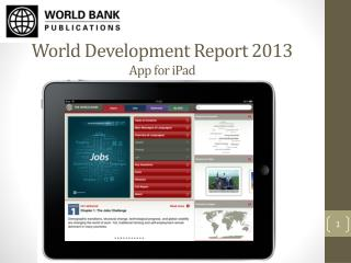 World Development Report 2013 App for  iPad