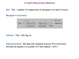A Useful Recurrence Relation