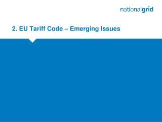2. EU Tariff Code � Emerging Issues