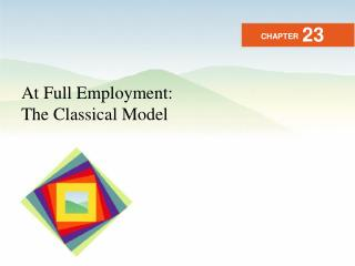 At Full Employment: The Classical Model