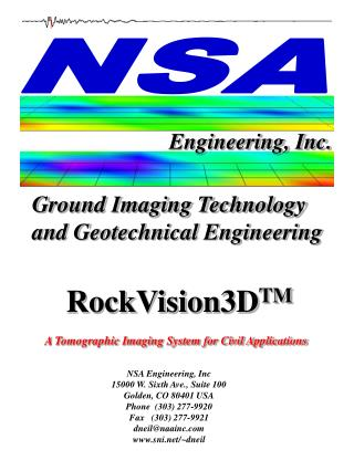 Ground Imaging Technology and Geotechnical Engineering