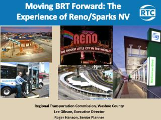 Regional Transportation Commission, Washoe County Lee Gibson, Executive Director