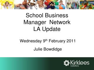School Business  Manager  Network LA Update
