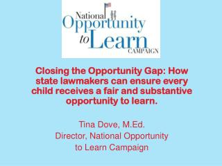 Opportunity Gap vs. Achievement Gap