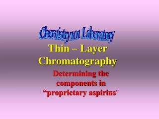 Thin – Layer Chromatography