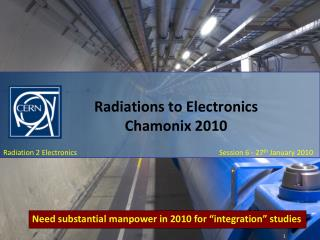 Radiations to Electronics Chamonix 2010