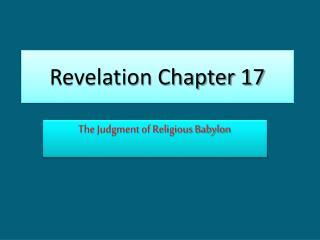 Revelation Chapter 17