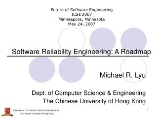 Software Reliability Engineering: A Roadmap