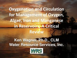 For complete details, see OXYGENATION AND CIRCULATION TO AID WATER SUPPLY RESERVOIR  MANAGEMENT