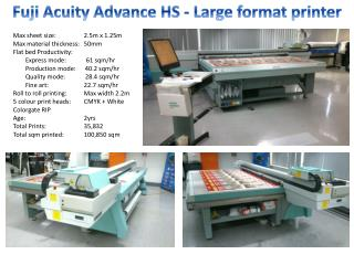 Fuji Acuity Advance HS - Large format printer