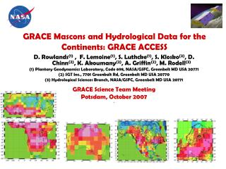 GRACE Mascons and Hydrological Data for the Continents: GRACE ACCESS