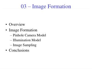 03 – Image Formation