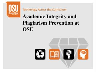 Academic Integrity and Plagiarism Prevention at OSU