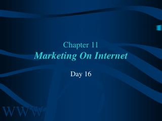 Chapter 11 Marketing On Internet