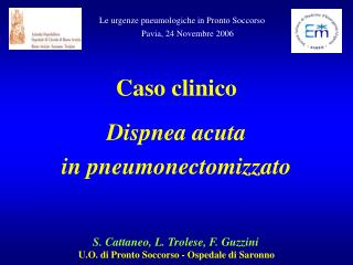 S. Cattaneo, L. Trolese, F. Guzzini