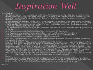 Inspiration Well