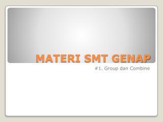 MATERI SMT GENAP