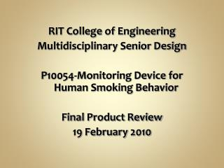 RIT College of Engineering Multidisciplinary Senior Design
