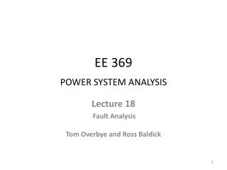 EE 369  POWER SYSTEM ANALYSIS
