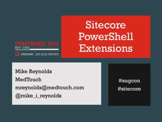 Sitecore  PowerShell Extensions