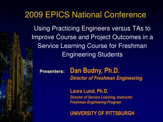 2009 EPICS National Conference