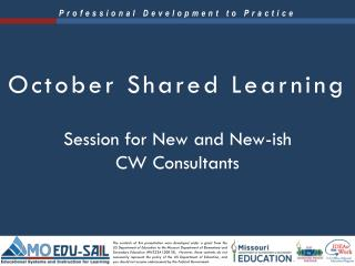 October Shared Learning