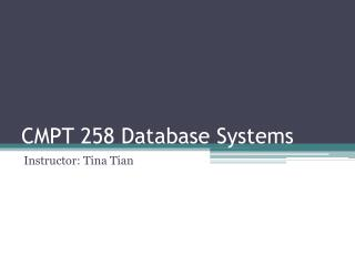 CMPT 258 Database Systems