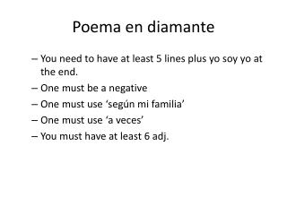 Poema en diamante