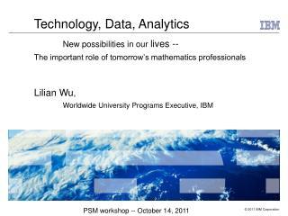 PSM workshop -- October 14, 2011