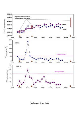 Sediment trap data