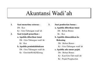 Akuntansi Wadi'ah