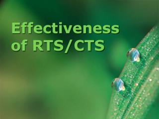 Effectiveness of RTS/CTS