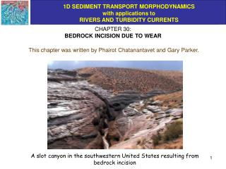 CHAPTER 30: BEDROCK INCISION DUE TO WEAR