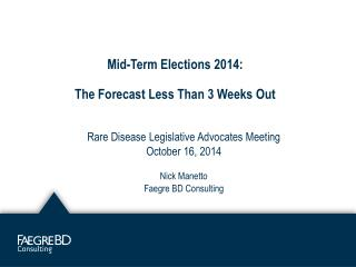 Mid-Term Elections 2014: The Forecast Less Than 3 Weeks Out
