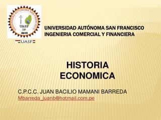 UNIVERSIDAD AUTÓNOMA SAN FRANCISCO INGENIERIA COMERCIAL Y FINANCIERA