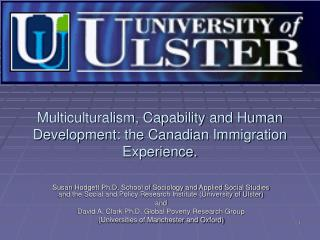 Multiculturalism, Capability and Human Development: the Canadian Immigration Experience.