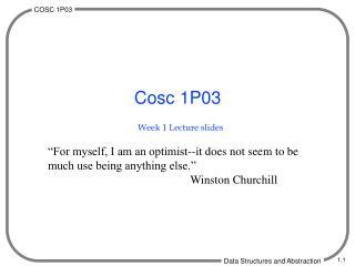 Week 1 Lecture slides