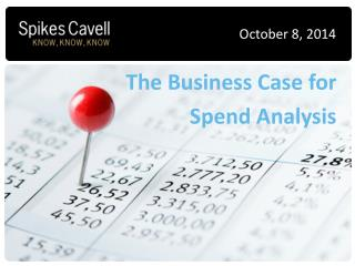 The Business Case for  Spend Analysis