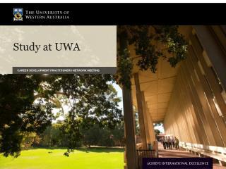 Study at UWA