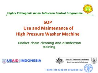 SOP   Use and Maintenance of High Pressure Washer  Machine