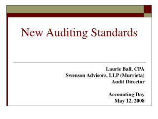New Auditing Standards