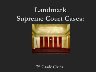 Landmark  Supreme Court Cases: