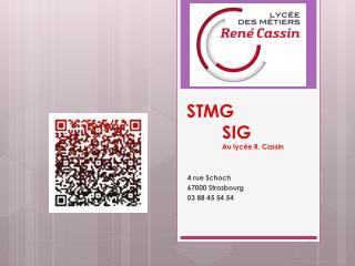 STMG SIG Au  lyc�e  R. Cassin