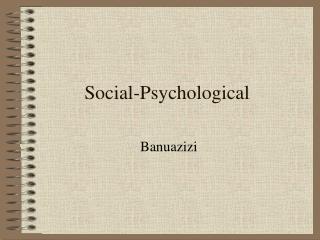 Social-Psychological