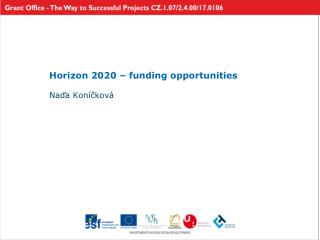 Horizon 2020 – funding opportunities
