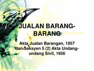 JUALAN BARANG-BARANG