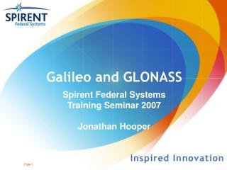 Galileo and GLONASS
