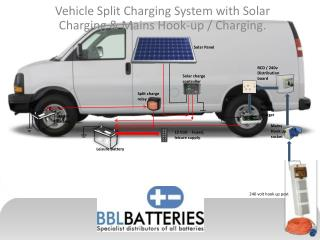 Vehicle Split Charging System with Solar Charging & Mains Hook-up / Charging.