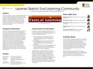 Learner Sketch Tool Learning Community Faculty and Student Usefulness of the Learner Sketch Tool